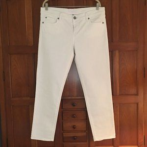 KUT from the Kloth straight leg white jeans, s 14